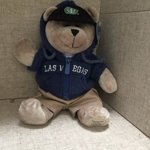 Starbucks Bearista Las Vegas Bear-Blue Jacket NWT